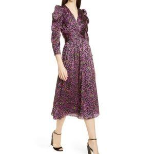 Kate spade Marker Floral Devore Midi Dress